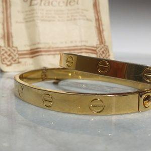 Charles Revson Jewelry - Cartier LOVE Bracelets 18k 1970 Aldo Cipullo